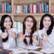 Group of happy students with thumbs up — Stock Photo #68747467