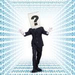 Entrepreneur walking inside internet network — Stock Photo #69867769