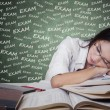 Girl take a rest after studying for exam — Stock Photo #69867903