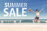 Summer sale promotion concept 3 — Stock Photo