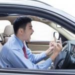 ������, ������: Mad businessman inside a car