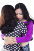 Modern teenage girls having problems — Stock Photo