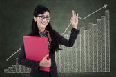 Businesswoman with high performance concept — Stock Photo