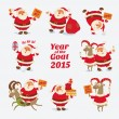 Cheerful Santa Claus. Year of the Goat 2015 — Stock Vector #61084433