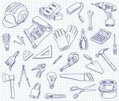 Materiales de construcción — Vector de stock