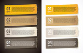 Set of infographics elements in the form of paper tape for vario — 图库矢量图片