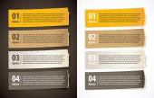 Set of infographics elements in the form of paper tape for vario — Stock vektor