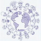 Multiculturele karakter — Stockvector