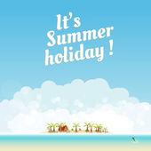 Summer background design, you cen easy all editable — Stock Vector