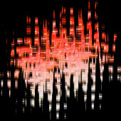 Digital darkness background — Stock Photo