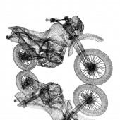 3d sportovní motorka — Stock fotografie