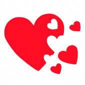3d hearts family concept — Stock Photo