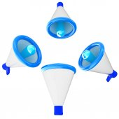 Loudspeakers as announcement icon. Illustration on white  — Stock Photo