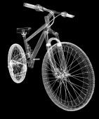 Bicycle as a 3d wire frame object isolated — Stock Photo
