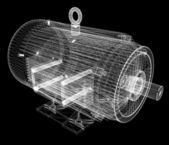 3d-model of an electric motor — Stock Photo