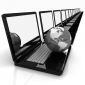 Computer Network Online concept — Foto de Stock