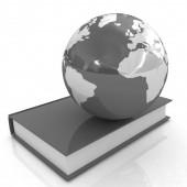 Barevné knihy a země — Stock fotografie
