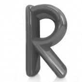 """Alphabet on white background. Letter """"R"""" — 图库照片"""