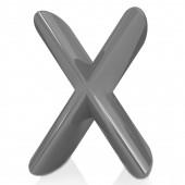 """白色背景上的字母。字母""""x"""" — 图库照片"""