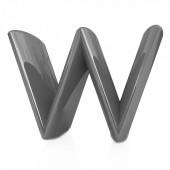 "Alphabet on white background. Letter ""W"" — 图库照片"