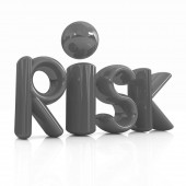 """3d red text """"risk"""" — Stock Photo"""