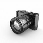 3d illustration of photographic camera — Stock Photo
