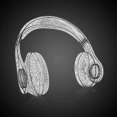 3d model headphones — Stock Photo