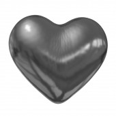 3d glossy metall heart — Stockfoto