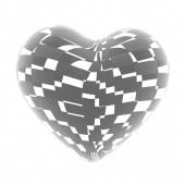 3d coeur brillant rouge magnifique, des bandes — Photo
