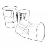 Bent barrel — Stock Photo