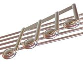 3D music note on staves — Stock Photo