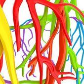 Fantasy veins. Medical illustration — Stock Photo