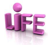 """3d text """"life"""" — Stock Photo"""