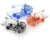 3d model truck — Stock Photo