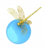 Dragonfly on abstract design sphere — Stock Photo
