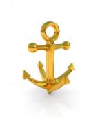 Gold anchor — Stock Photo