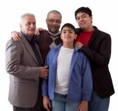 Three Generations of an Indian Family — Stock Photo