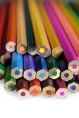 Matite colorate isolati su bianco — Foto Stock