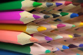 Leads of colored pencils — Stock Photo