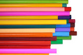 Bright colored pencils isolated on white — Foto Stock