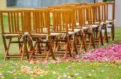 Wedding reception on the garden — Stock Photo