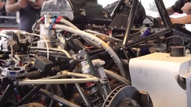 Perspective view of motor — Stock Video
