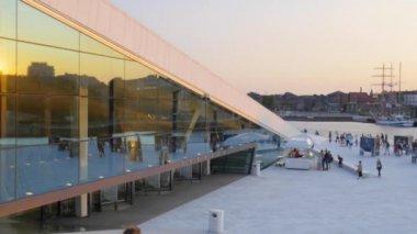 National Oslo Opera House — 图库视频影像