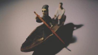 Isolated grim reaper taking passenger — ストックビデオ
