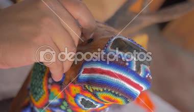 Craftsman making handcraft — Stock Video