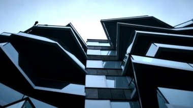 Modern structure of skyscraper — Stok video