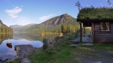 Norway landmark house — Stock Video
