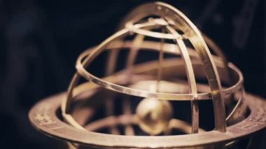 Old Armillary Sphere — Stock Video