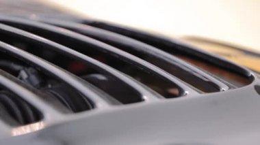 Powerful engine under hood — Stock Video