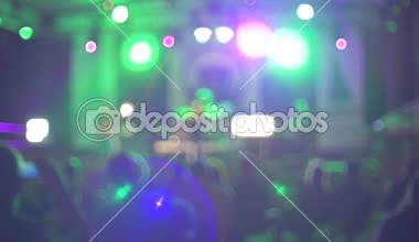Blurry lights of stage concert — Stock Video